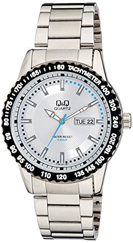 Q&Q Analog Silver Dial Men's Watches - A194-201Y get best offers deals free and coupons online at buythevalue.in