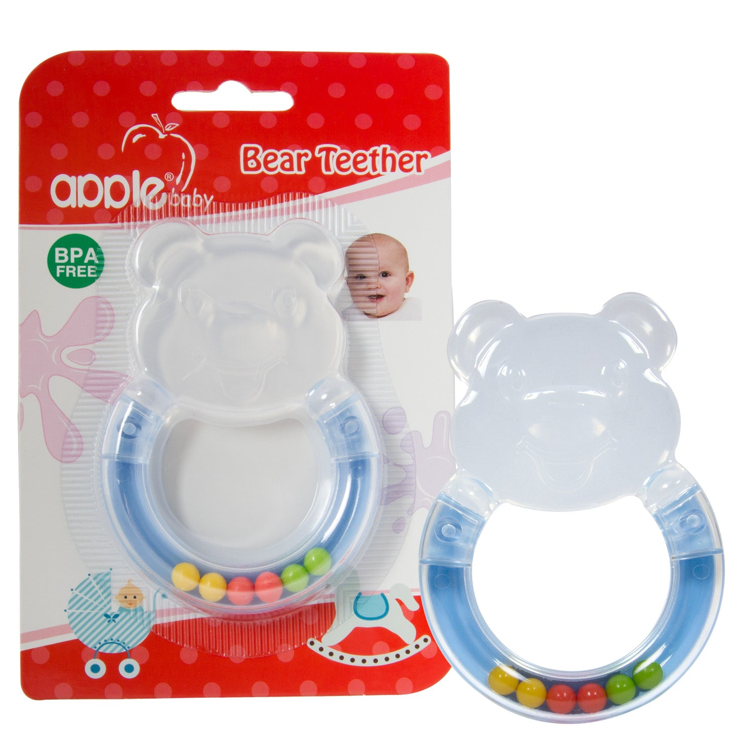 AppleBaby Bear Teether Blue get best offers deals free and coupons online at buythevalue.in