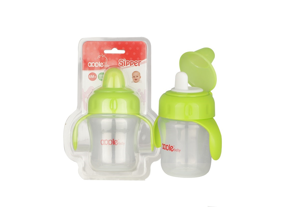Apple Baby Sipper with Handel Green-AC240 get best offers deals free and coupons online at buythevalue.in