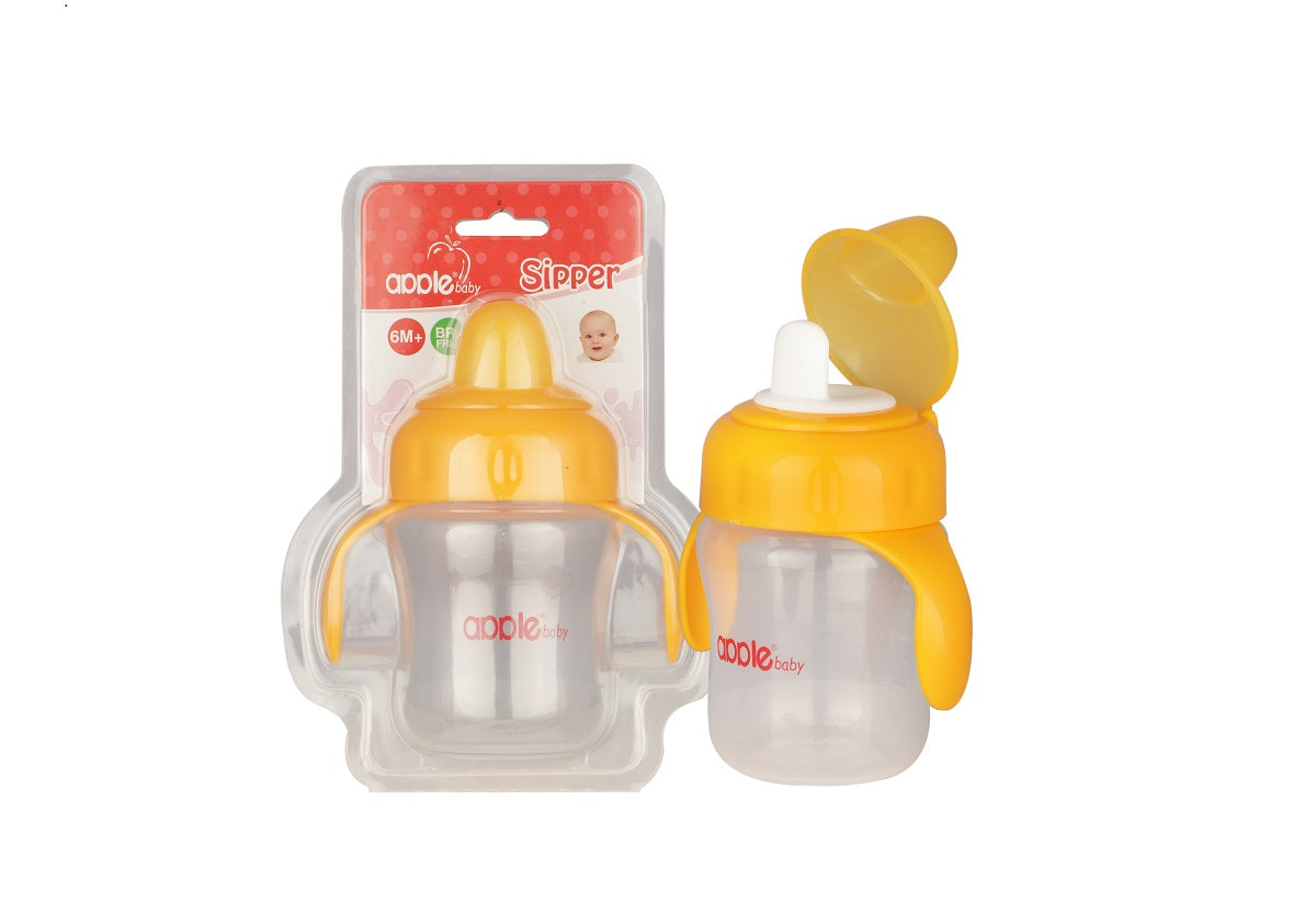 Apple Baby Sipper with Handel Yellow-AC240 get best offers deals free and coupons online at buythevalue.in