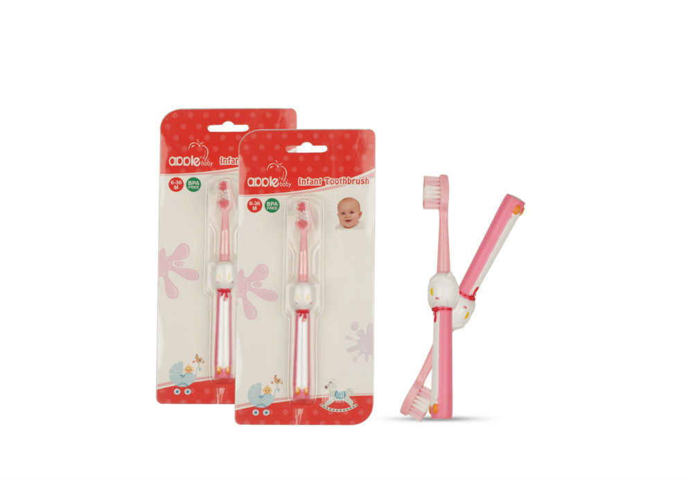 Apple Baby Infant Toothbrush Pink-AC266 get best offers deals free and coupons online at buythevalue.in