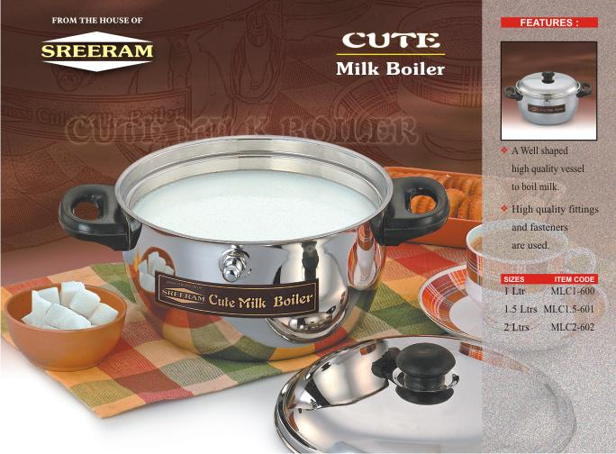 Sreeram Kitchen 1.0 Ltr Milk Boiler get best offers deals free and coupons online at buythevalue.in