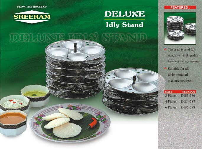 Sreeram Kitchen Dlx 3 Plates Idly Stand get best offers deals free and coupons online at buythevalue.in