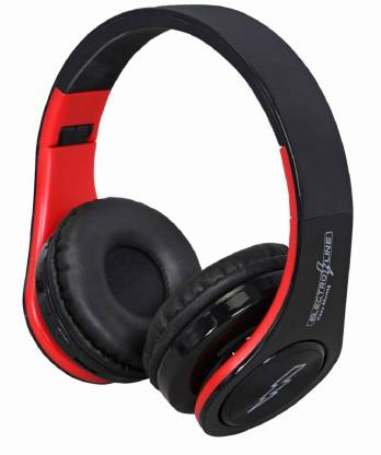 Electroline HK P47 Bluetooth Headphone Red and Grey Bluetooth Headset