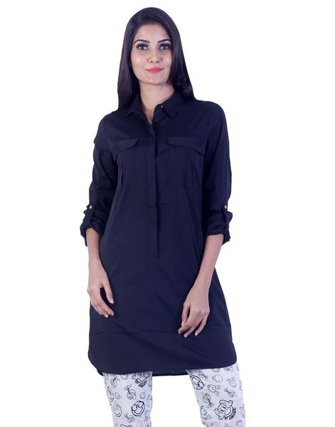 Joshuah's Matte Black Long Tunic