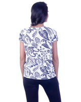 Joshuah's White Floral T-Shirtget best offers deals free online at buythevalue.in