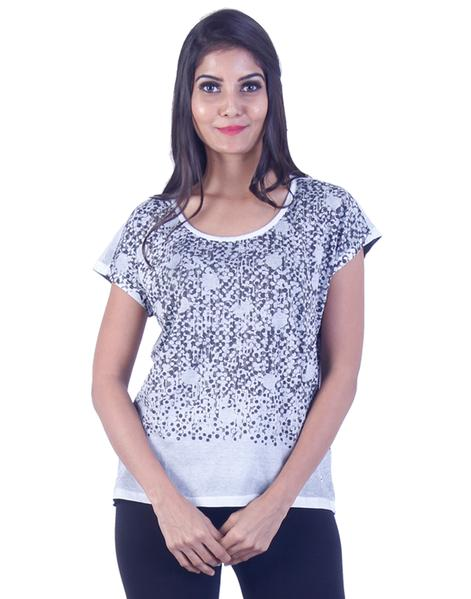 Joshuah's Black and Grey Dotted T-Shirtget best offers deals free online at buythevalue.in