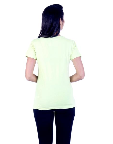 Joshuah's Lemon Yellow Design Printed T-Shirtget best offers deals free online at buythevalue.in