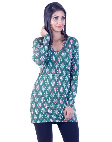 Joshuah's Green Patterend Long Tunic