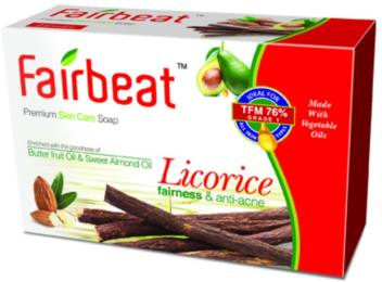 Fairbeat-Licorice soap with butter fruit&sweet almond oil fairness  5 pcs super value pack get best offers deals free and coupons online at buythevalue.in