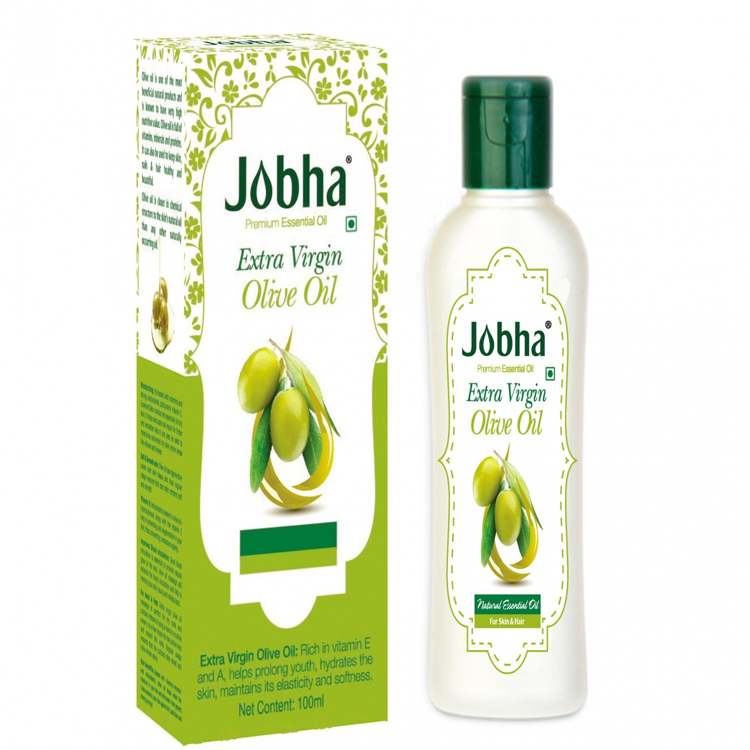 Jobha Extra Virgin Olive Oil 100 ml get best offers deals free and coupons online at buythevalue.in
