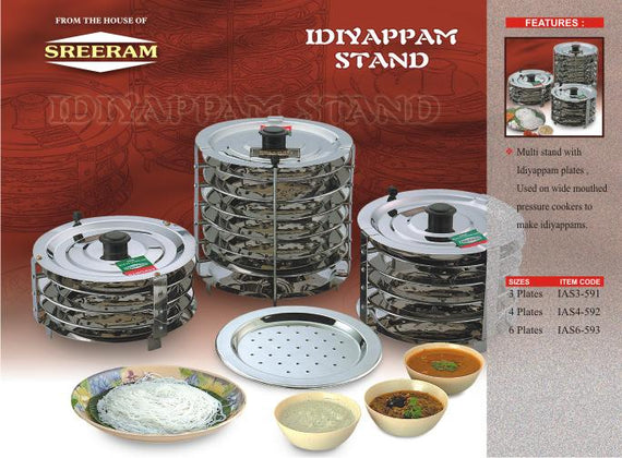 Sreeram Kitchen 3 Plts Idiyappam Stand get best offers deals free and coupons online at buythevalue.in