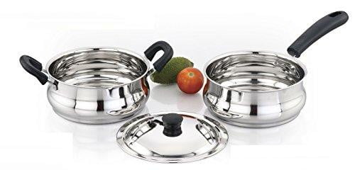Sowbaghya Ultima Induction Base Stainless Steel 3Pcs Gift Set - ISS07 get best offers deals free online at buythevalue.in