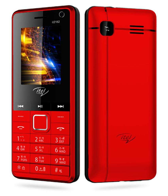 Itel IT2182 Feature Phone Red - Buythevalue.in
