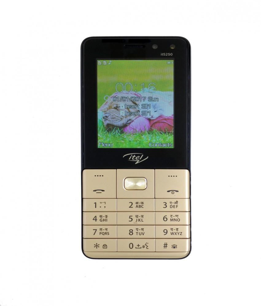 Itel IT5250 Feature Phone Gold get best offers deals free and coupons online at buythevalue.in