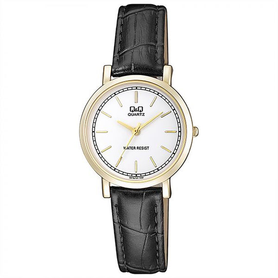 Analog Q&Q Black Leather Women's Watch Q979J121Y get best offers deals free and coupons online at buythevalue.in