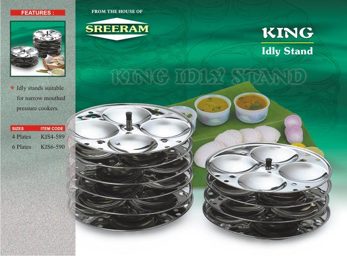 Sreeram Kitchen King 4 Plates Idly Stand get best offers deals free and coupons online at buythevalue.in