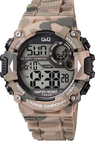 Q&Q Digital Regular Metallic Black Dial Men's Watch - M146J004Y get best offers deals free online at buythevalue.in