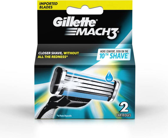 Gillette Mach 3 Cartridges  (Pack of 2)get best offers deals free and coupons online at buythevalue.in