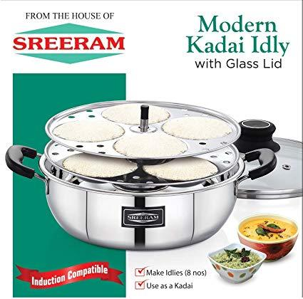 Sreeram Kitchen Modern Kadai Idly get best offers deals free and coupons online at buythevalue.in