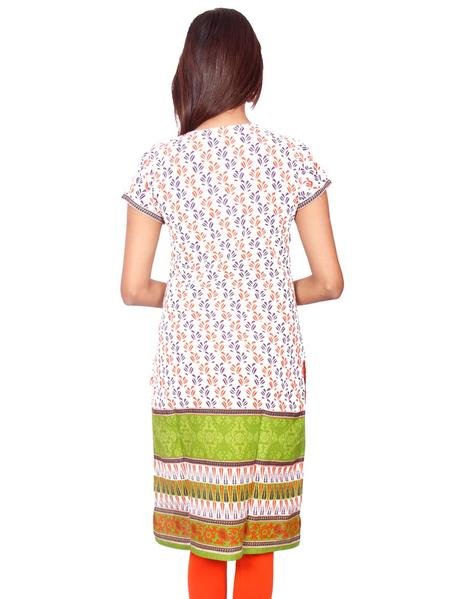 Joshuah's Printed Short Sleeves Pure Cotton Kurtiget best offers deals free online at buythevalue.in