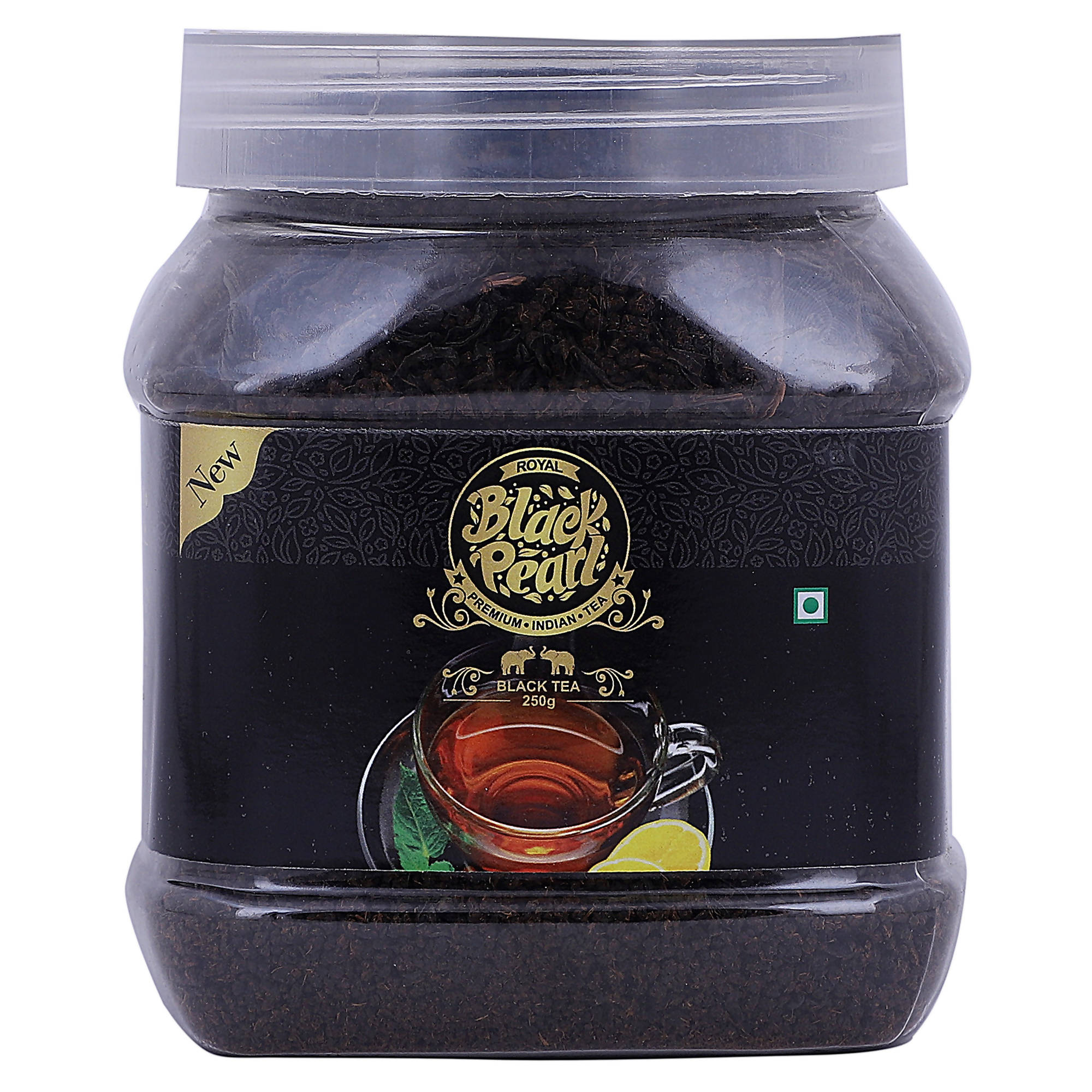 Royal Black Pearl Original Assam Black Tea Plastic Bottle (250 g)