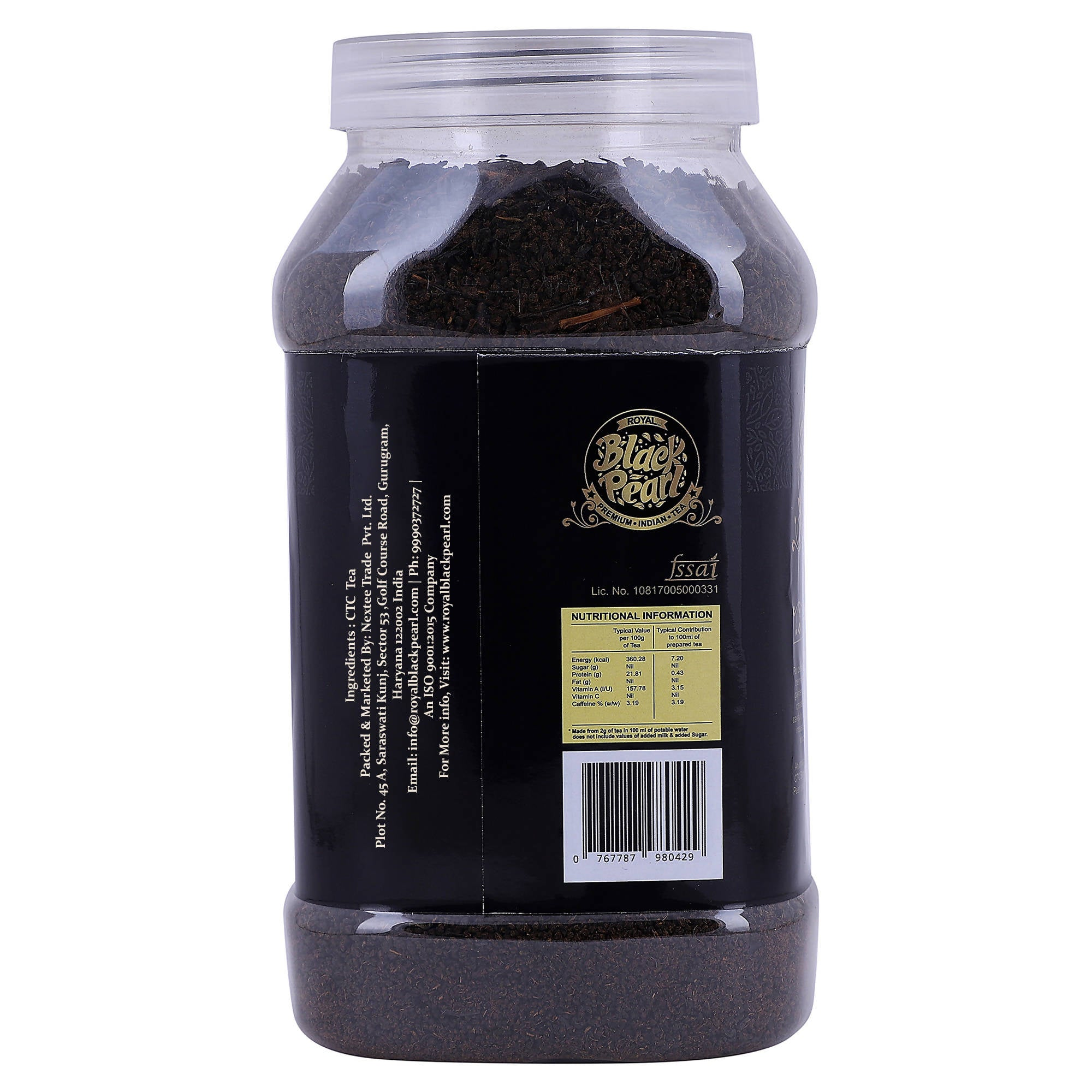 Royal Black Pearl Original Assam Black Tea Plastic Bottle (500 g)
