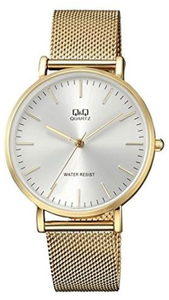 Q&Q gold steel watch QA20J001Y get best offers deals free and coupons online at buythevalue.in