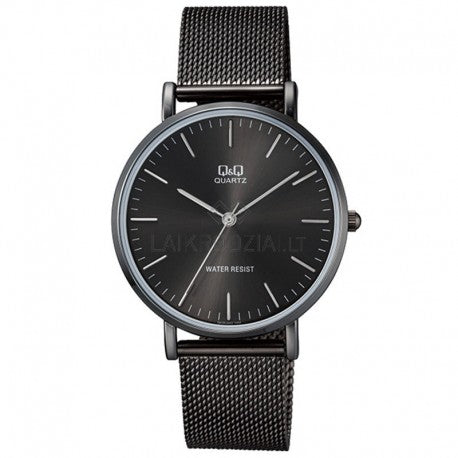 Q&Q black steel watch QA20J402Y get best offers deals free and coupons online at buythevalue.in