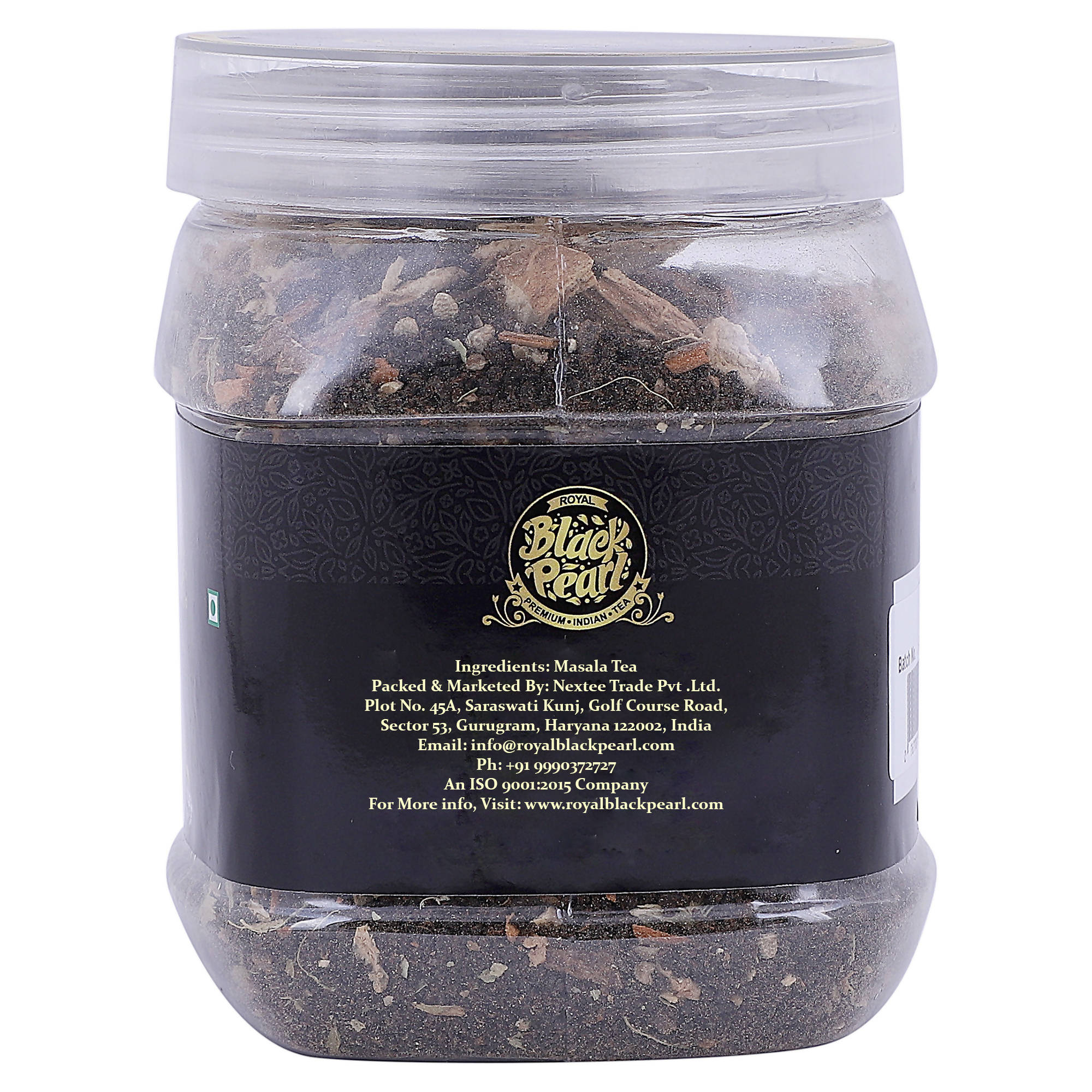 Royal Black Pearl Masala Chai Herbs, Spices Masala Tea Plastic Bottle (250 g)
