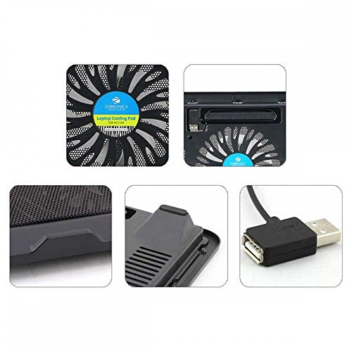 Zebronics Laptop Cooling Pad with USB and Blue LED Fan
