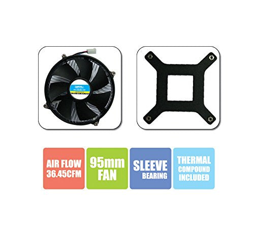 Zebronics CPU Cooling Fan For Socket LGA 775 Cooler