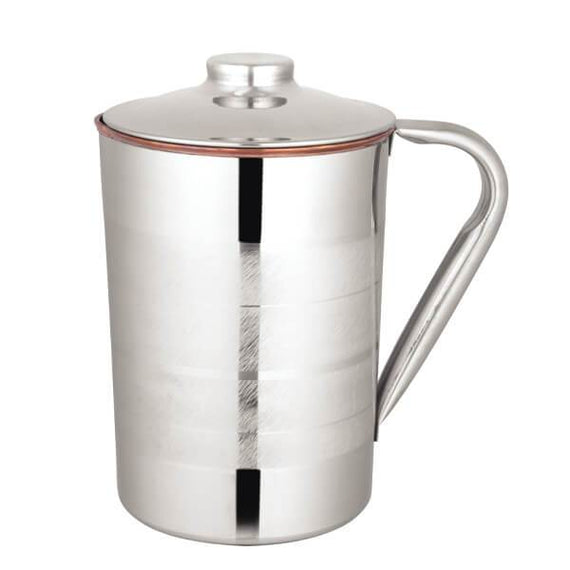 Magizh Copper 1500 ml SS Copper Luxury Jug get best offers deals free and coupons online at buythevalue.in