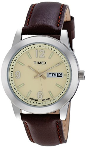 Timex Analog Beige Dial Men's Watch - T2M803 get best offers deals free and coupons online at buythevalue.in