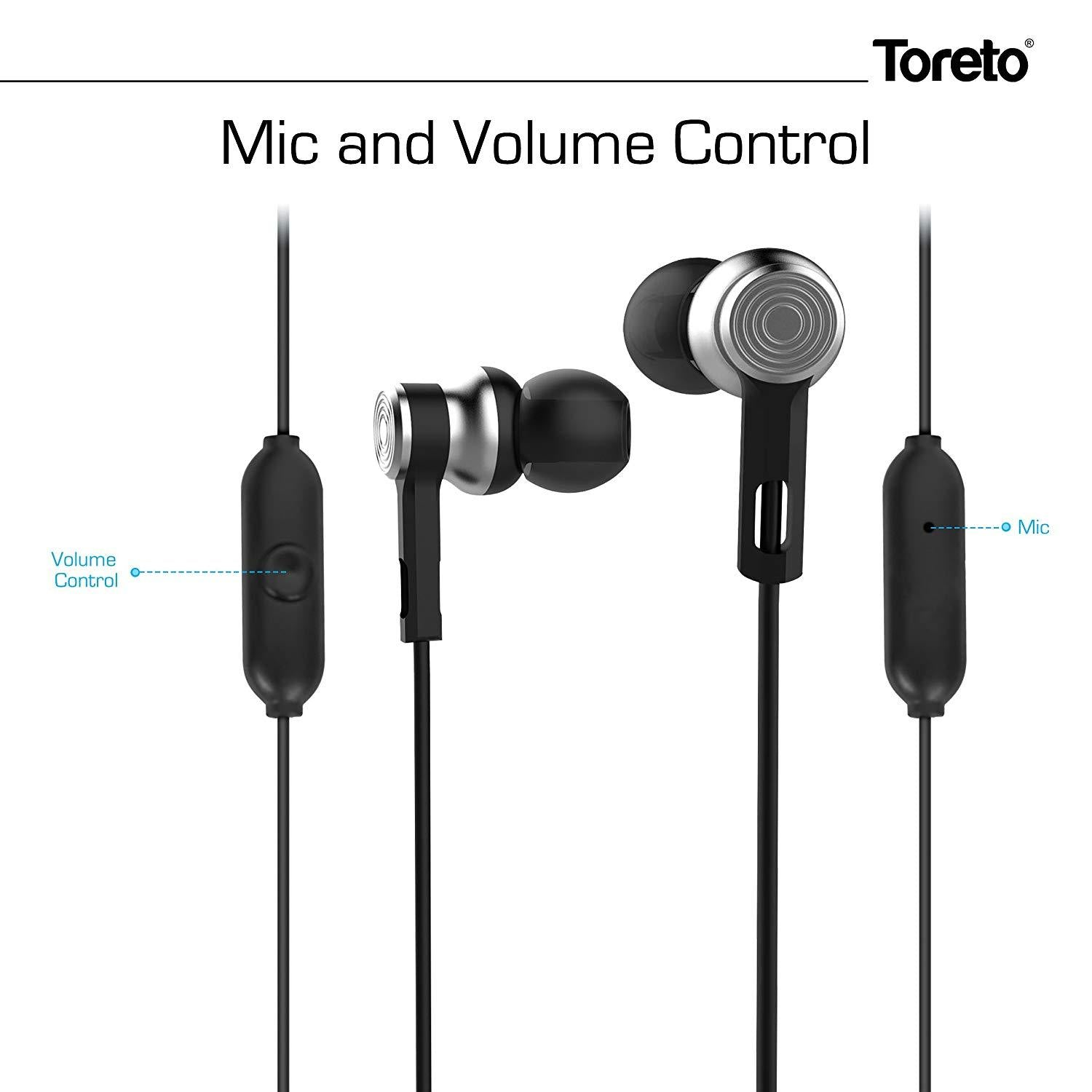 Toreto Black In-Ear Earphone