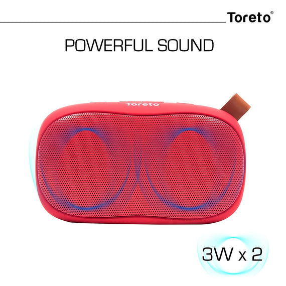 Toreto Red 6W Bluetooth  Speaker