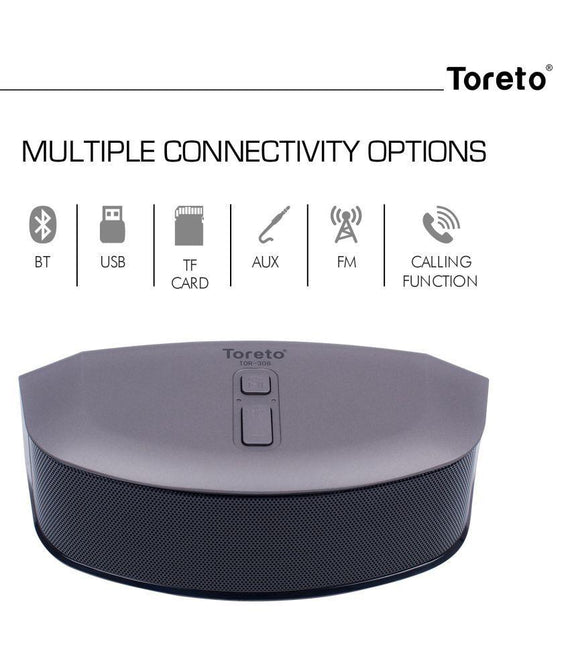 Toreto Black 6W Bluetooth Speaker