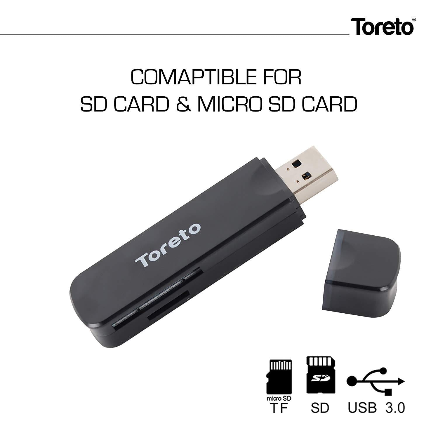 Toreto Black Usb 3 Card Reader