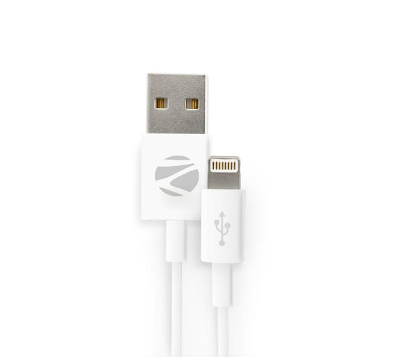 Zebronics White Usb to Lighting Cable get best offers deals free and coupons online at buythevalue.in