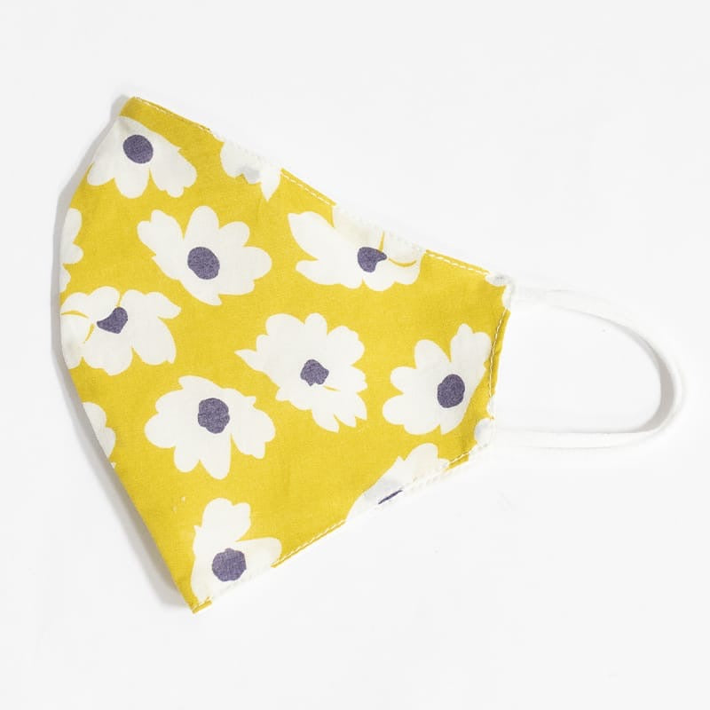 Floral Yellow - Reusable Cotton Mask