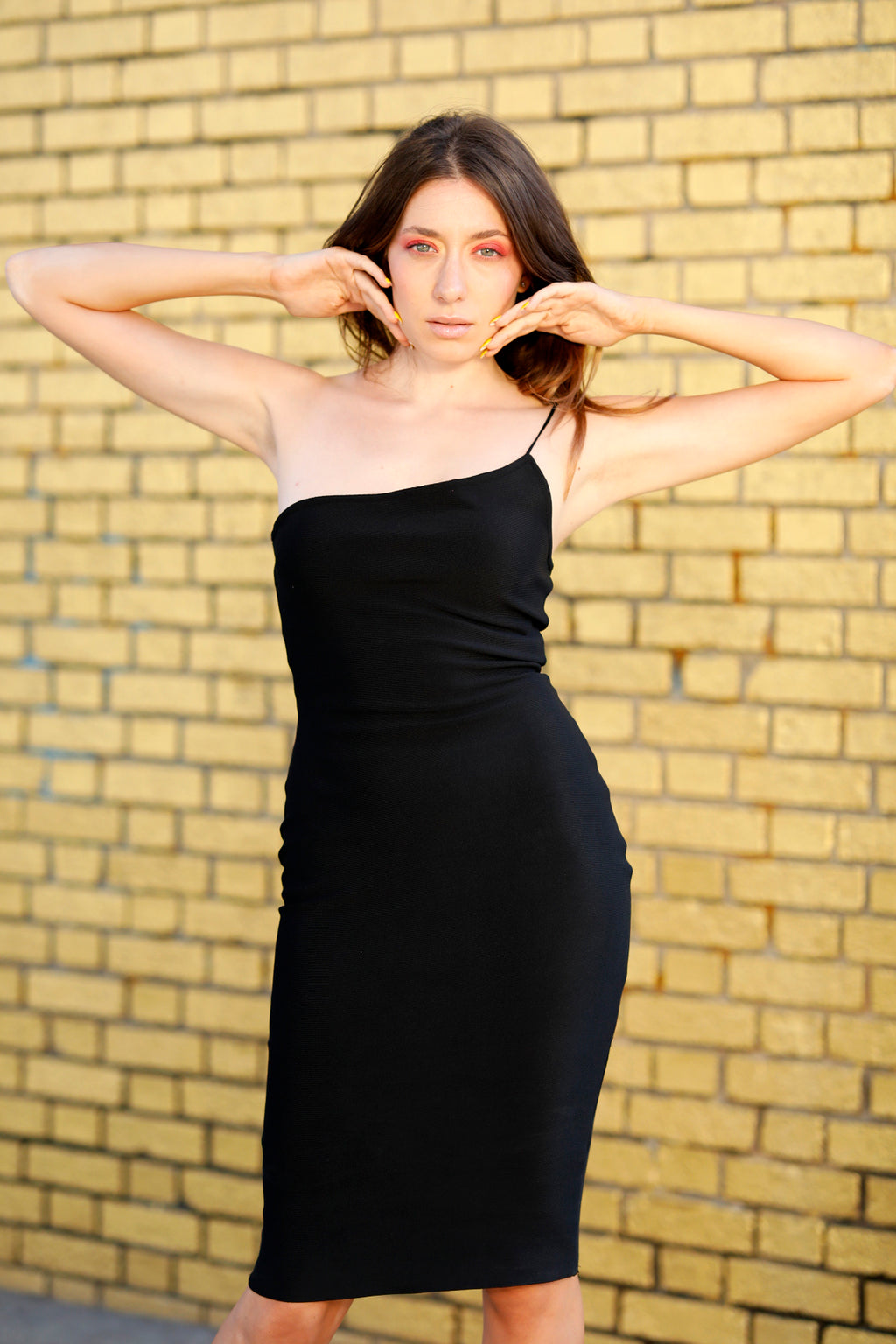 Gram Glam - Black Bandage Midi Dress
