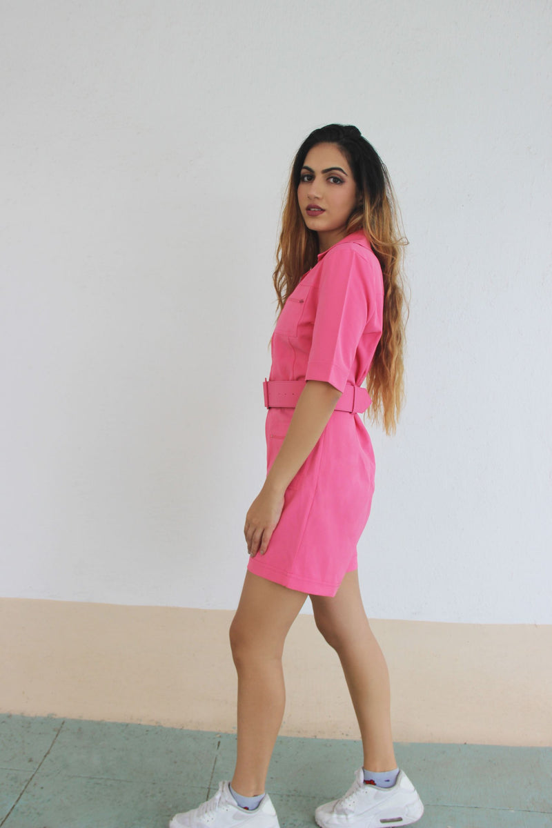 Born Rich - Perfect Pink Playsuit & Belt