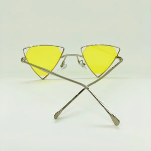 True Lemon - Triangle Tinted Sunglasses