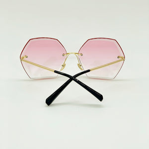 Love Story - Ombre Hexagon Sunglasses