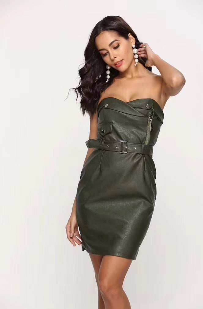 Tipsy - Faux Leather Mini Dress