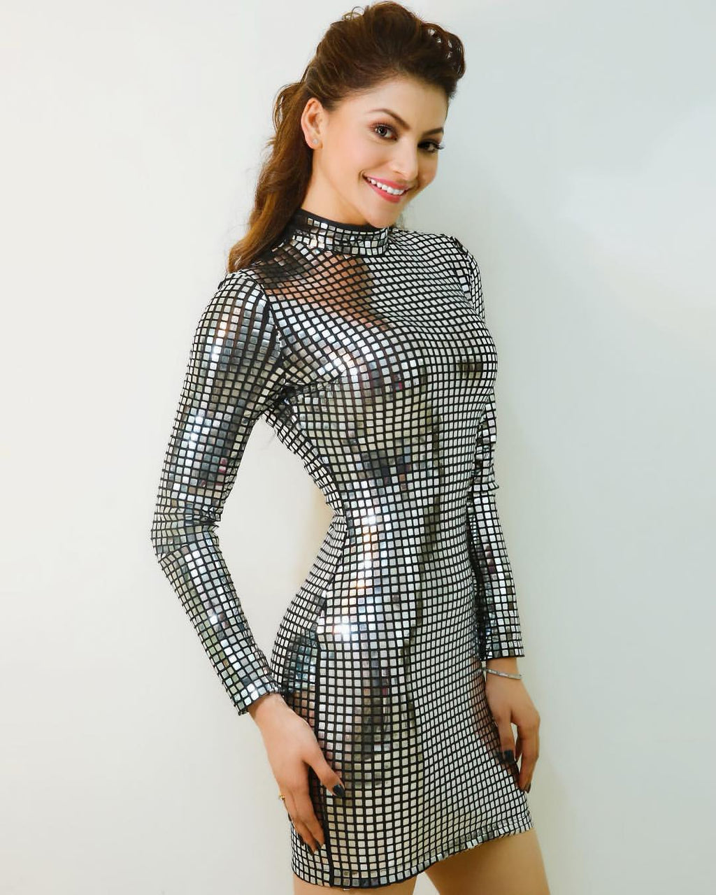 Diva - Silver Mirror Mini Dress