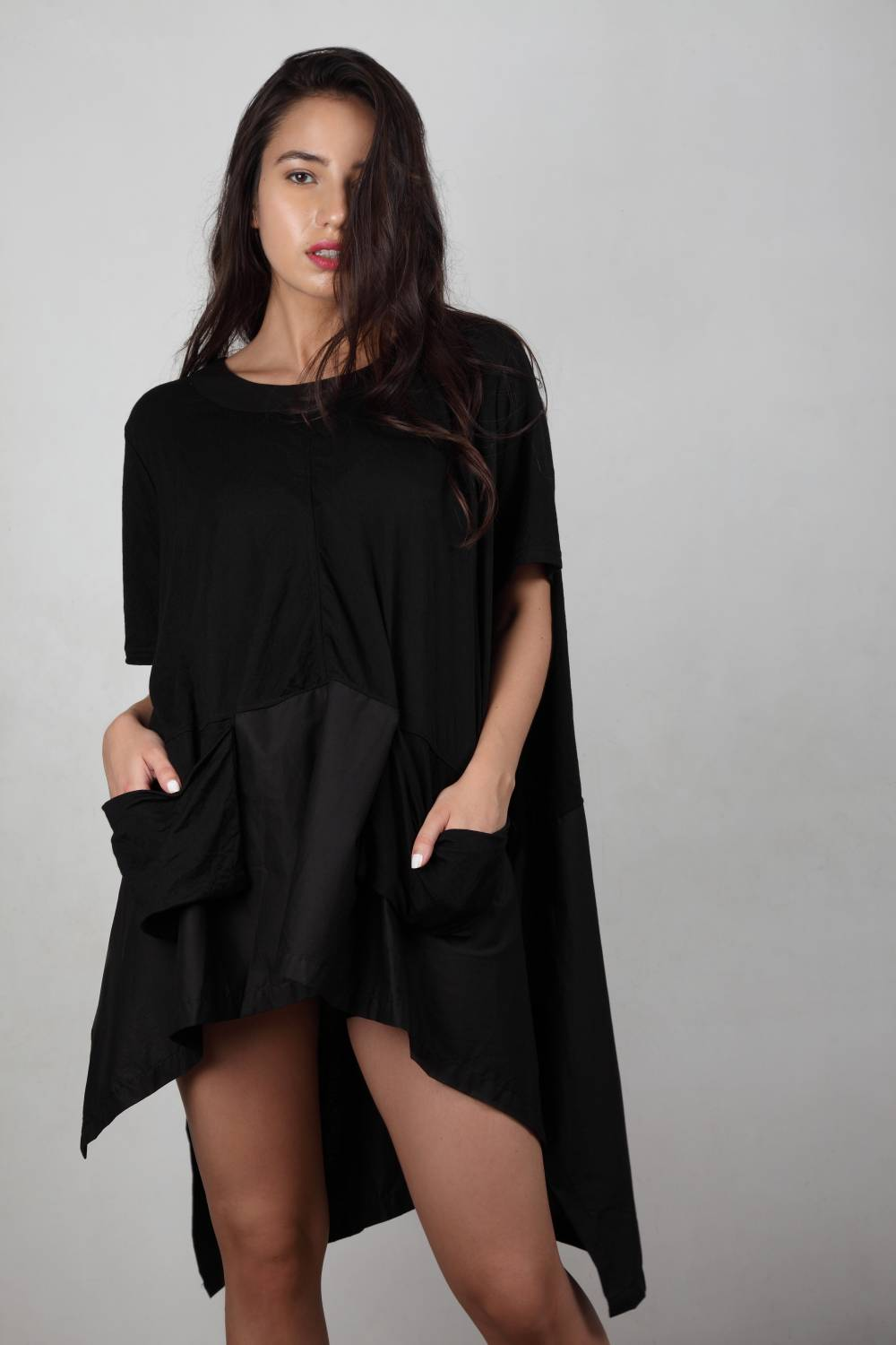 Quit Playin' - Matte Black Oversized T-shirt