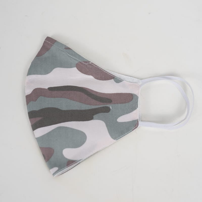 Camo White - Reusable Cotton Mask
