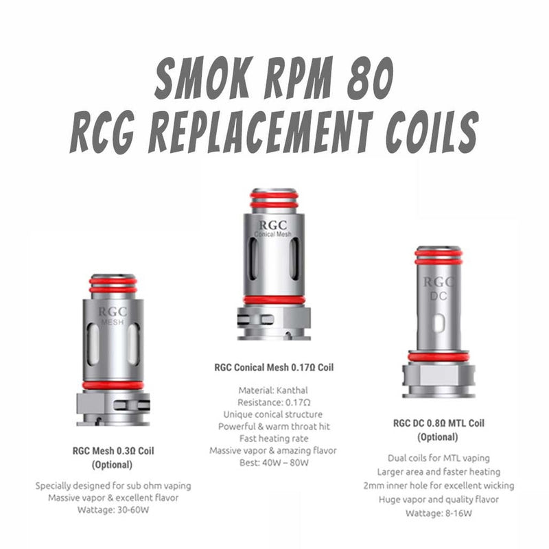 Smok RPM80 - RGC Pod -Replacement Coils