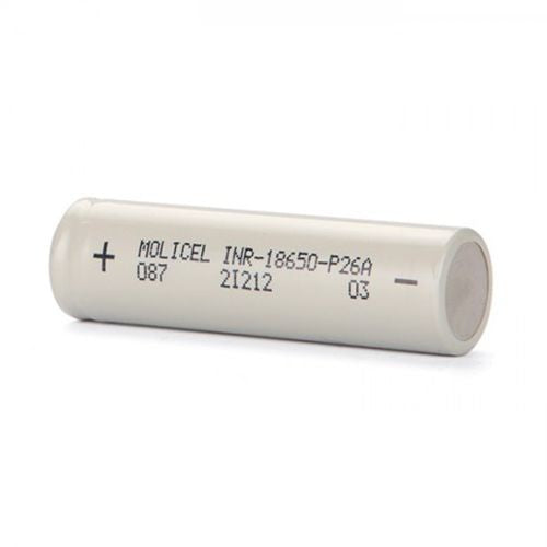 Molicel P26A 18650 (2600mah) Single Battery Cell